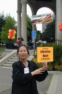 Teresa LeYung Ryan walks for public libraries
