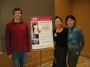 Stanford student Mitchell Holt represented Marketing Dept. with authors Teresa LeYung Ryan & Elisa Southard