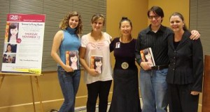 Stanford students Natalia, Chana Rose, Zach with Teresa LeYung Ryan (middle) and Barbara Whittaker (right)