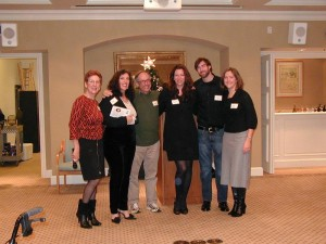 CWC SF Peninsula Branch President Tory Hartmann with 5 dynamic literary agents
