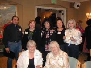 Seated: Ruth Silnes & Diane Warner;  Standing: Bob Davis, Mary Knippel, Valerie Lee, Teresa LeYung Ryan, Margaret Davis