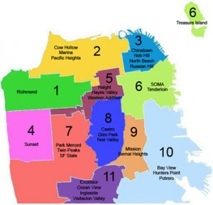 11 districts in San Francisco