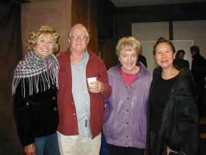 Actors Donna Andrews & Stuart Chappell with playwright Carol Sheldon & Teresa LeYung Ryan
