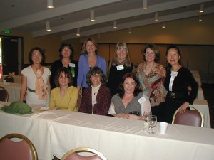 NCPA Conference authors & publishers, with Rosa Umbach, Linda Lee, Kimberly Edwards & Writing Career Coach Teresa (right, standing)