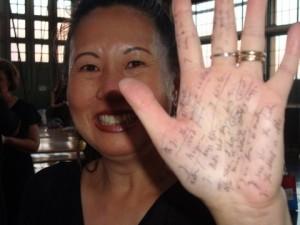 actress Teresa LeYung Ryan kept lines on her hand photo by Elisa Southard
