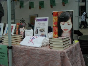 Love Made of Heart book and Love Made of Heart gift items at Asian Heritage Street Celebration