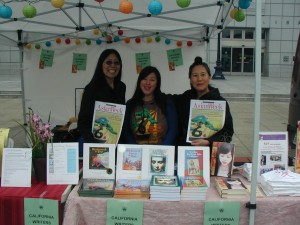 Cat Mulan Margie Yee Webb, journalist Angela Pang, Love Made of Heart Teresa LeYung Ryan at Asian Heritage Street Celebration 2010