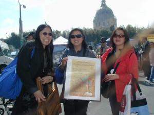 Margie Yee Webb and her darling sisters at Asian Heritage Street Celebration