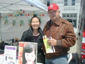 author Teresa LeYung Ryan & Carl the dog trainer