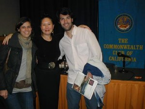 Writing Career Coach Teresa LeYung Ryan (middle) thank Christina & Fernando at The Commonwealth Club for their gracious assistance