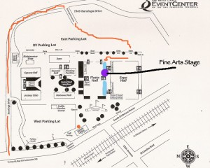 San Mateo County Fair fine arts stage map for literary events