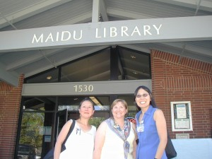eresa LeYung Ryan, Mary E. Knippel, Margie Yee Webb advocate for public libraries.