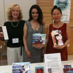 WNBA authors Lynn Henriksen (how to write memoirs), Sarbjit Rai (children's books), Teresa LeYung Ryan (how to build writer's platform; women's fiction) welcome everyone at Publishing Panel