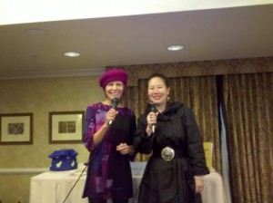 Talking Tagline Teacher Elisa Southard and Build Your Writers Platform Fanbase Coach Teresa LeYung Ryan at SFWC 2011
