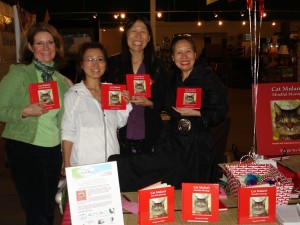 Kimberly A. Edwards, Hazuki, 22-Day Coach Teresa cheer for Margie Yee Webb author of Cat Mulan's Mindful Musings