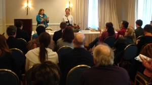 Mary E. Knippel & Teresa LeYung-Ryan teach 'Be Your Own Editor' at SFWC - photo by Margie Yee Webb