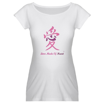 Love Made of Heart maternity, women, men Tshirt